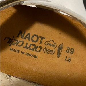 Naot Shoes - Naot White Leather Cork Bed Slingback Sandals 8